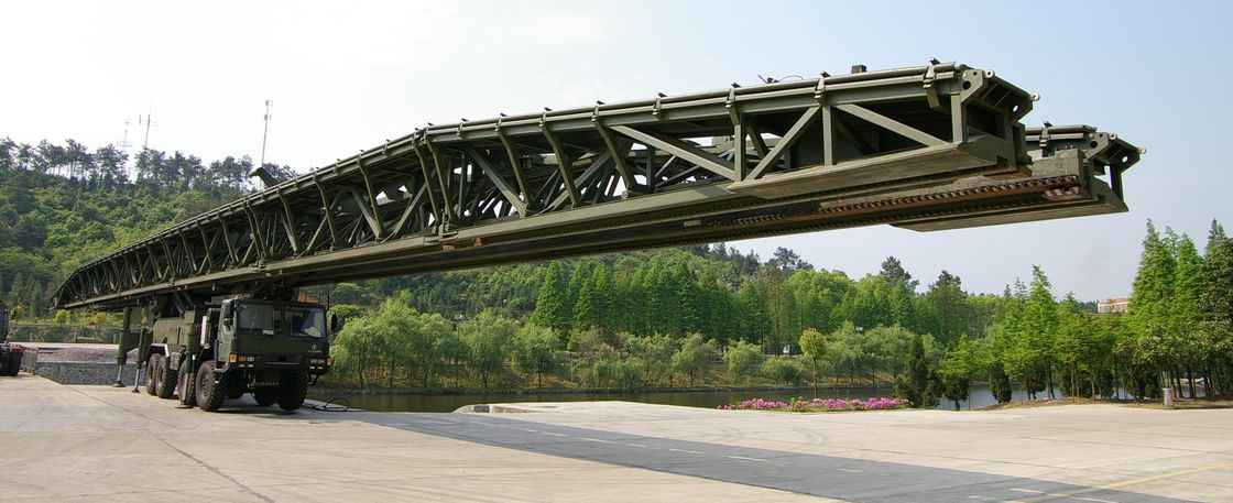 Flexibility 51m Large - Span Mechanized / Emergency Bridges / Single Suspension Bridge